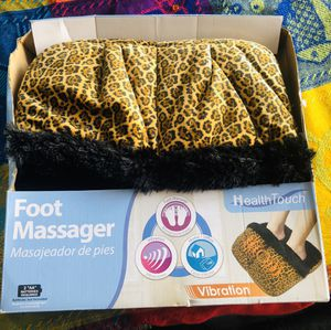 Leopard Skin Foot Massager with Luxuriously Soft Fabric for Sale in Industry, CA