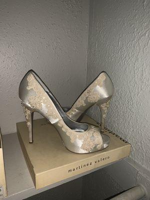 Martinez Valero Ivory Wedding Heels for Sale in San Antonio, TX