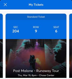 POST MALONE concert tickets 03/19/2020 for Sale in Hayward, CA