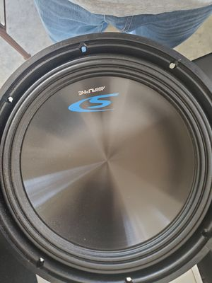 Alpine Speak subwoofer Box with Amplifier for Sale in Atwater, CA