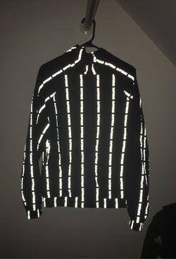 Large supreme reflective text stripe track jacket for Sale in Manassas,  VA