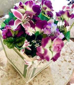 Hand Paint Wood Flower Basket & Flower for Sale in Reston, VA