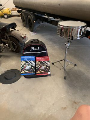 Snare drum with stand and music books for Sale in Visalia, CA