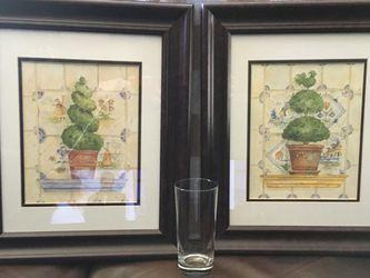 2 Pictures Frames - Topiary for Sale in Cherry Hill,  NJ