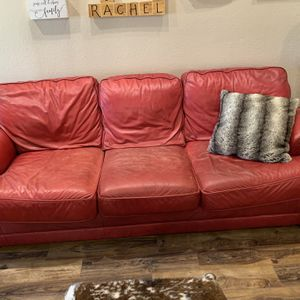 2 Red Leather Lazy Boy Sofas for Sale in Fresno, CA