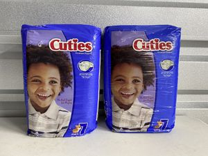 Cutie diapers size 7 for Sale in Dallas, TX