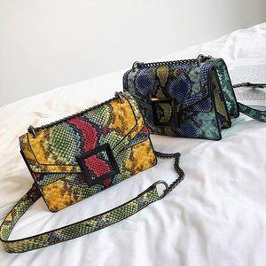 Women's Bag Snake Shoulder Bag Vintage Crossbody Bag Women's Snake Shoulder Bag Floral Print Small Square Bag Vintage Chain Bag for Sale in Houston, TX