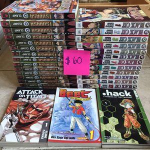 Manga Lot for Sale (Black Cat, Attack on Titan, Tsubasa, Beet, Hack) for Sale in Paterson, NJ