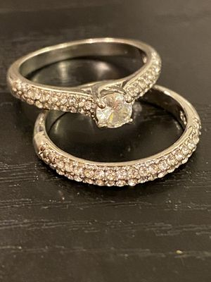 925 sterling silver Engagement/Wedding Ring Set- Code GAND01 for Sale in San Diego, CA