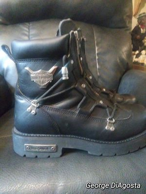 Authentic Harley Davidson motorcycle boots men size 12 like new for Sale in Bensalem, PA