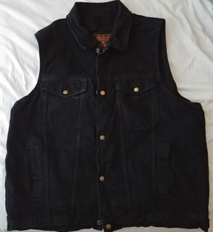 Fairly New... Black Motorcycle Jean Cut (Vest) for Sale in Houston, TX