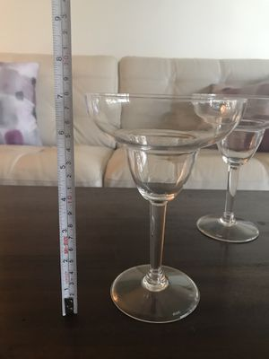 2 Martini & 2 Margarita glasses for picnic/ party for Sale in Fort Lauderdale, FL