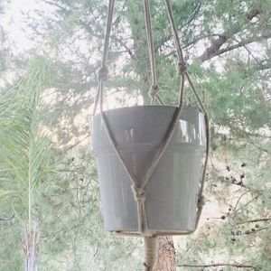 Macrame Hanging Pot Plant Holder Natural Multicolor Garden Outdoor Indoor Multi Colors for Sale in Riverside, CA