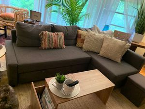 IKEA PULLOUT SECTIONAL COUCH WITH REVERSIBLE ENDED CHAISE WITH STORAGE-* like new IKEA MODEL 1628 for Sale in Columbus, OH