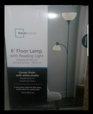 Teal Colored Floor Lamp for Sale in Riverdale, IL