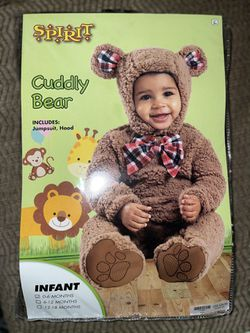 Infant Baby Bear Costume 0-6months for Sale in Fresno,  CA