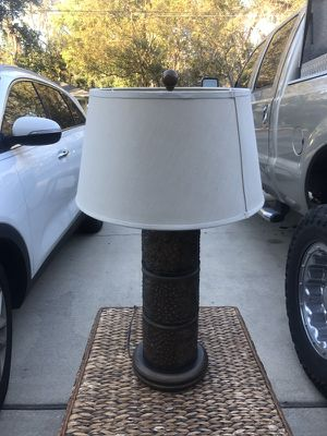 Tin colored table lamp for Sale in Orlando, FL