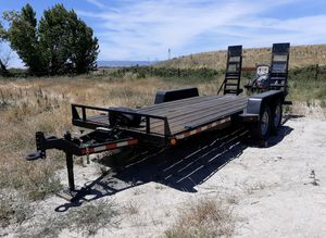 Equipment trailer LED lights winch new tires in great shape 10k weight capacity 6 lug axles asking $4,300 for Sale in San Jose, CA