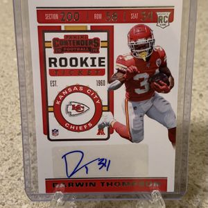 Darwin Thompson Kansas City Chiefs 2019 Panini Contenders Rookie Ticket Auto #184 for Sale in Federal Way, WA
