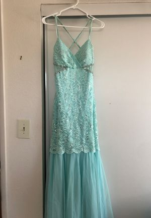 Mint lace open back prom dress for Sale in Pittsburg, CA