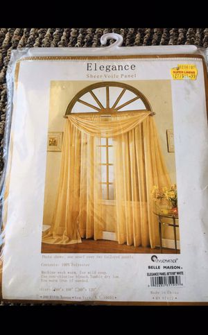 """New In Box- Elegance Sheer Voile Panel- 60""""x95""""-White colorblind for Sale in Reisterstown, MD"""