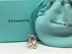 Darling gift Bag design Sterling Silver Tiffany and Co. Charm for Sale in Sun City, AZ