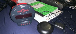 Sonic Bomb alarm clock with vibrate piece for the bed for Sale in Baytown, TX