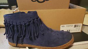UGG Shenendoah navy suede fringed bootie for Sale in Overland Park, KS