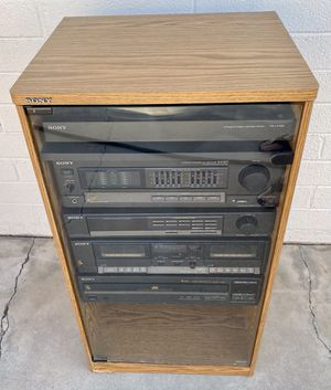SONY HOME STEREO RACK SYSTEM AX301 AMP ST-JX301 TUNER TC-W301 DUAL TAPE DECK CDP-C201 5 CD CHANGER AND MORE! for Sale in Glendale, AZ