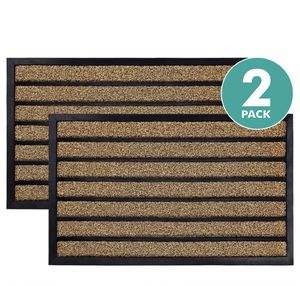 """2-pack durable striped outdoors door mat. Large. Heavy duty doormat, easy clean, low profile mats for entry, garage, patio, high traffic areas. 17""""x2 for Sale in North Bay Village, FL"""