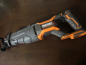 RIDGID gen 5X new, 18 v sawzall , tool only for Sale in Santa Ana, CA