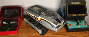 Vintage Electronic Tabletop Arcade Games and Big Trak Programmable Toy Vehicle for Sale in Granite Falls, WA