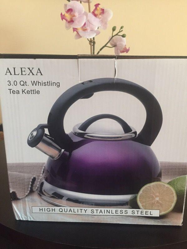 Stainless Steel Tea Kettle/Pot- Purple