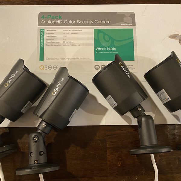 4-pack QSEE HD Security Cameras - NEW