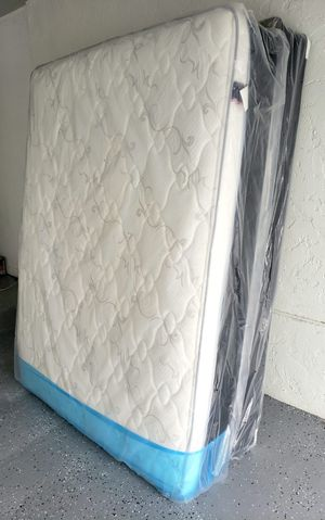 NEW QUEEN PILLOWTOP MATTRESS AND BOX SPRING SET, bed frame not included on price for Sale in Boynton Beach, FL