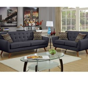 Ash Black Sofa And Loveseat Set Couches for Sale in Downey, CA