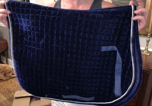 Navy saddle pad bought in England for Sale in Columbia, TN