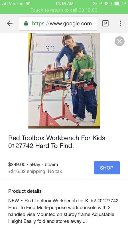 Fantastic Red Toolbox Workbench For Children 8 New In Box For Sale In Caraccident5 Cool Chair Designs And Ideas Caraccident5Info