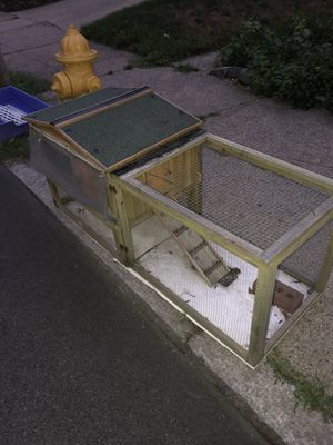 Rabbit Hutch, Corral, Heating Pad, Heated Water Disp. for Sale in Pawtucket, RI