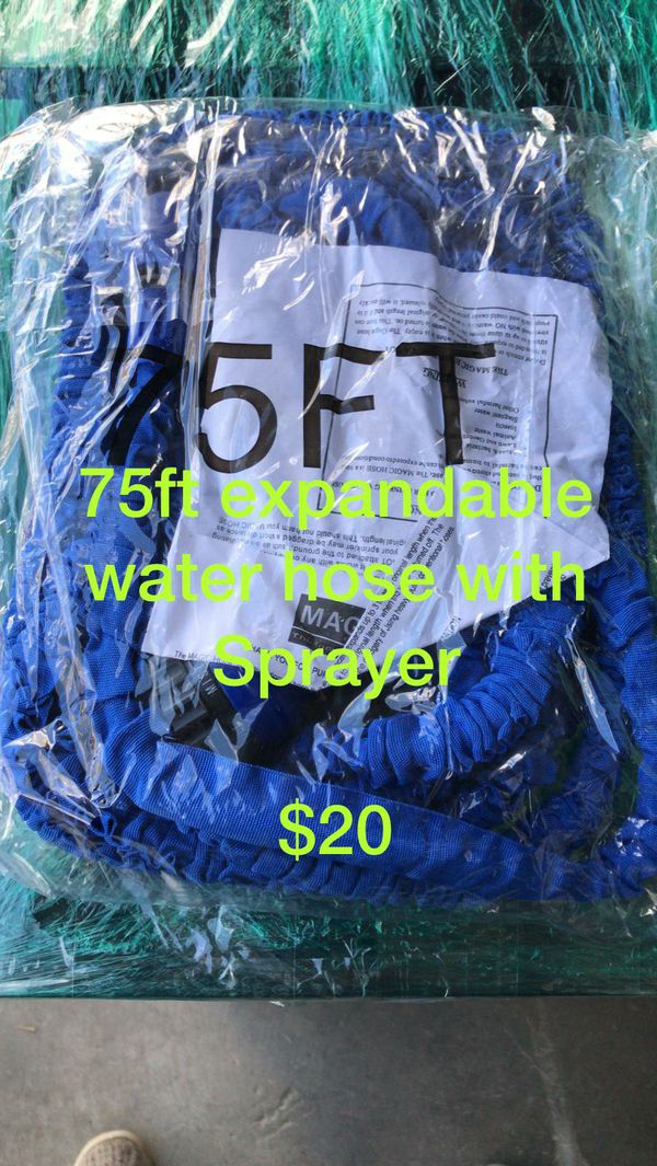 75ft. Expandable water hose with sprayer