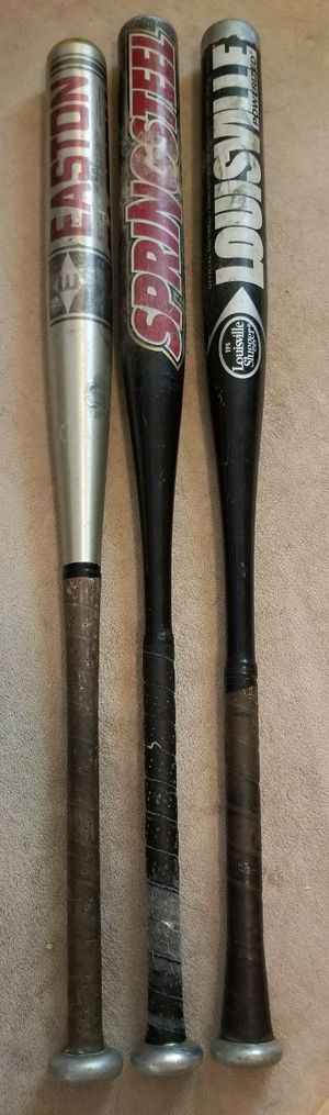 Softball baseball bats Louisville slugger tps Easton for Sale in Rancho Cucamonga, CA