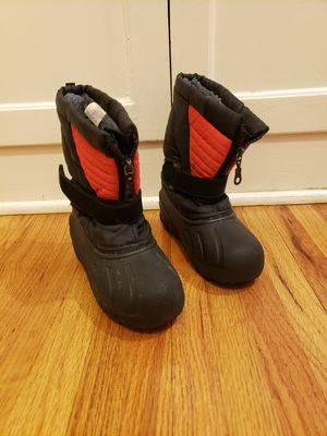 Little kid size 12c snow boots snow shoes for Sale in Los Angeles, CA