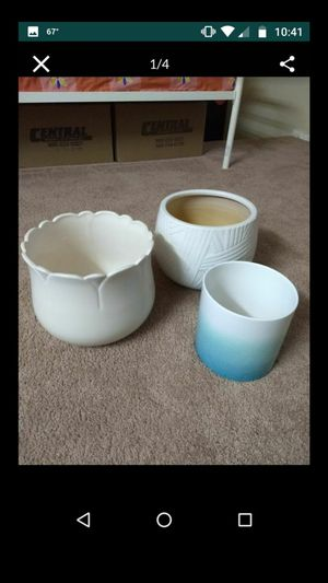 3 Ceramic Plant pots / Planters for Sale in Piscataway, NJ
