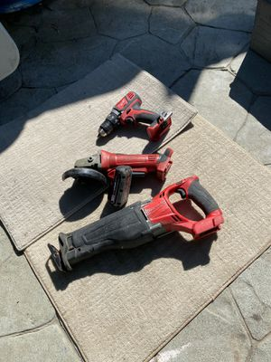 Milwaukee sawzall grinder drill for Sale in San Pablo, CA