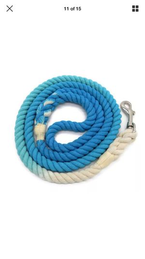 5 FT Ombre Cotton Rope Dog Leash Braided Turquoise Blue for Sale in Endicott, NY