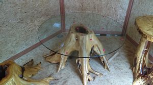 Brand new !!Awesome white cedar root stump coffee table !! for Sale in East Jordan, MI