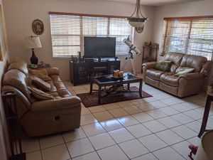 Living Room Set Motorized Recliner Sofa Loveseat Wood Coffee Side Tables Juego Sala for Sale in Miami, FL