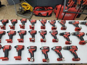 Milwaukee 18v impacts and drills 35$-80$ depending on which one for Sale in Fort Worth, TX