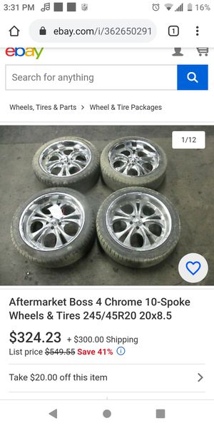 Boss Motorsports rims 5 lugs 400obo for Sale in Wichita, KS