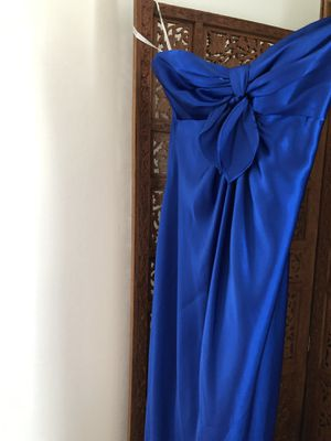 Strapless royal blue prom/formal dress size 0-2 sweetheart neckline w cutout for Sale in Laurel, MD